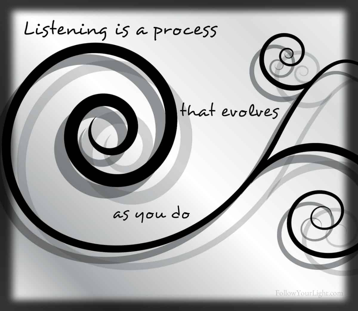 Listening Is A Process